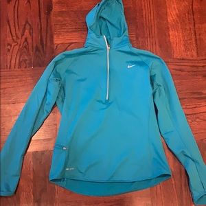 Nike dry fit long sleeve fleece size l hoodie